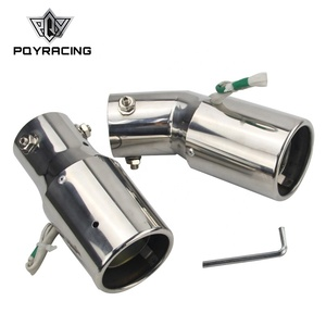 Stainless Steel Spray Device Light Tail Throat Exhaust red Leds Modified Flame Spray Light Modulator Styling Resistance Muffler