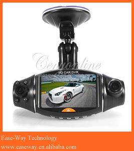 R310 motion detection mini car dashboard camera , dual lens GPS HD dash cam car