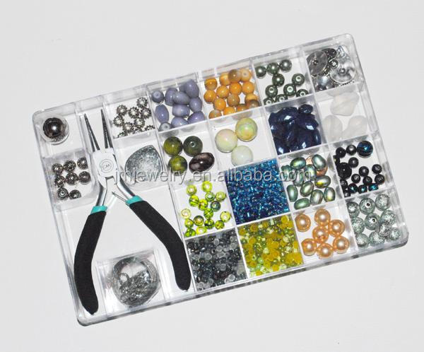 jewelry making kits with plier and colorful beads for your own jewelry