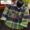 Wholesale baby clothes boy shirt designs flannel shirt childrens boutique clothing