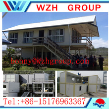 low cost container house / prefabricated houses with 2 bedroom house plan