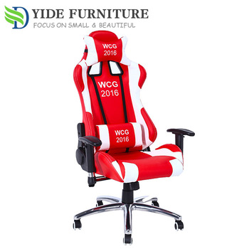Yide Red And White Leather Gaming Chair Racing Sports Chair With