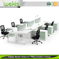 OEM Custom Modern Furniture Partition Type Office Workstation For 6 person