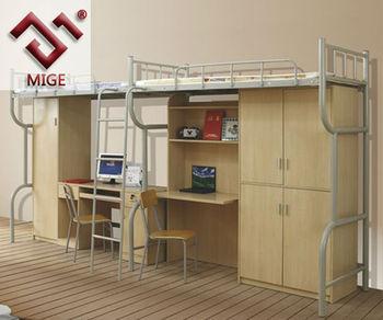 Double Cabinet And Desk Bookshelf Adult Metal Bunk Beds