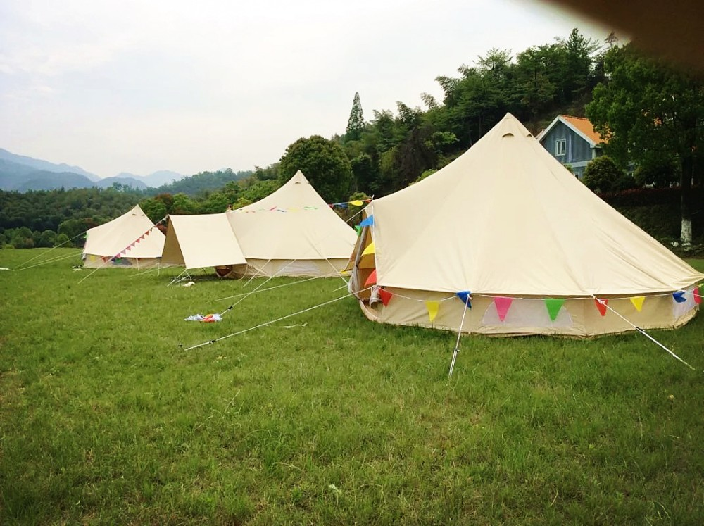 Leshade 6m Cotton Canvas Water Proof Round Marquee Bell