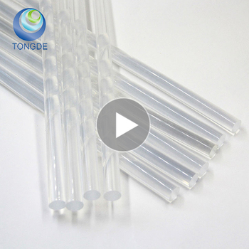 China supplier crystal transparent hotmelt glue stick