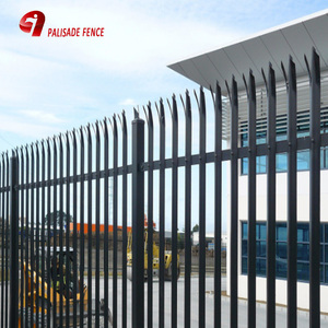 2700mm high high standard Galvanized Palisade Metal Fence