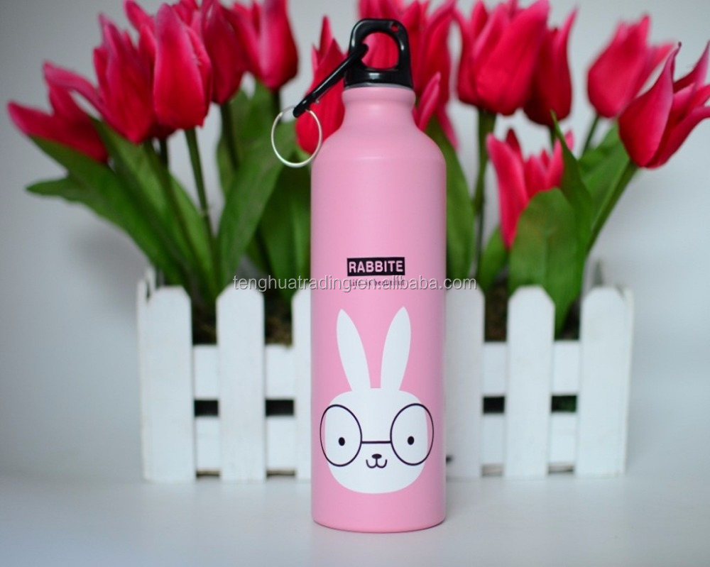 Good Quality Cartoon Design Aluminum Bottle Custom Aluminum Water Bottle with Printing