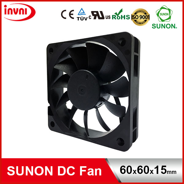 SUNON 12V DC Brushless Axial Flow Cooling Fan 6015 60*60*15 60x60x15 mm 60x60x15mm (MF60151V2-10000-A99)