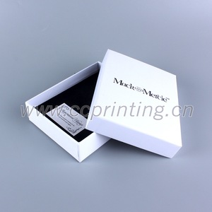 Custom Cardboard White Color Box Jewelry, Velvet Foam Inserts for Jewelry Packaging Box