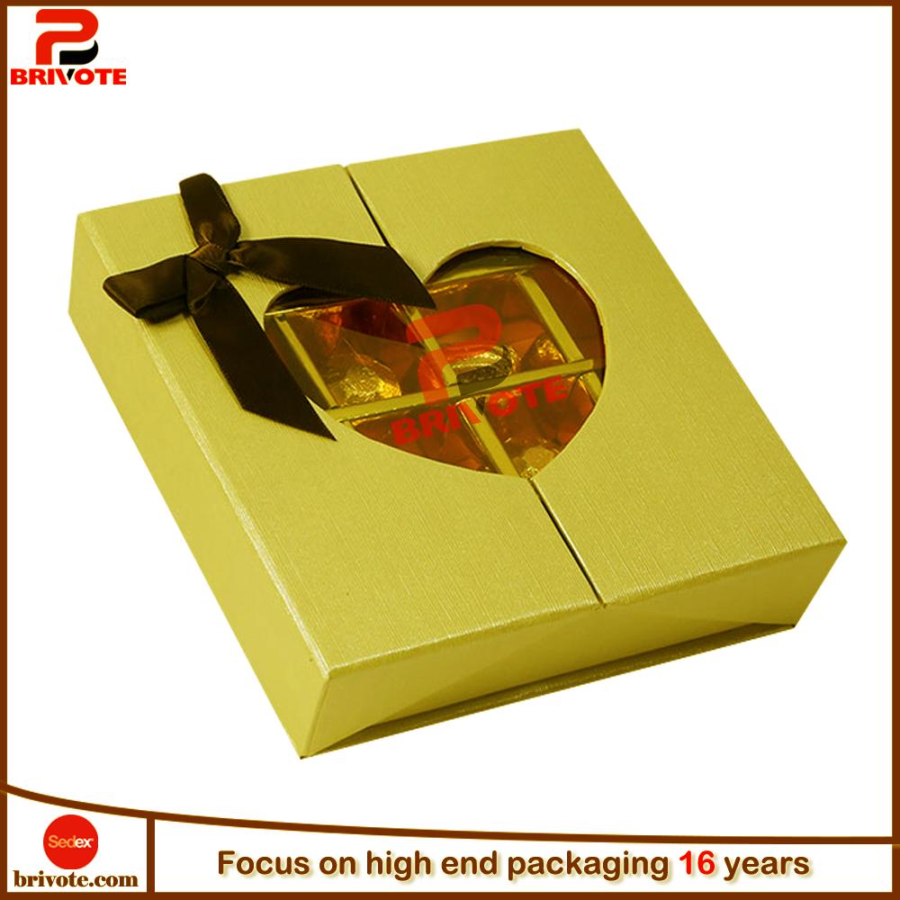 custom made transparent packaing chocolate boxes design
