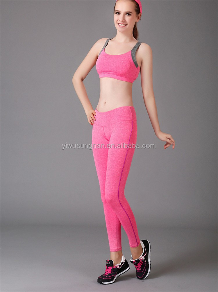 Multicolor Striped Ladies Yoga Stretch Leggings Sport Pants