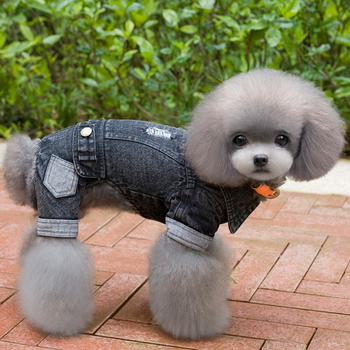 Thicken Dog Jeans Fleece Inside Winter Pet Clothes Four-Leg