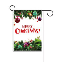High Quality Personalized Decorative Outdoor Polyester Christmas Garden Flag