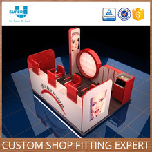 Alibaba Cheap Wholesale Custom Store Fixture Display Threading Kiosk Eyebrow