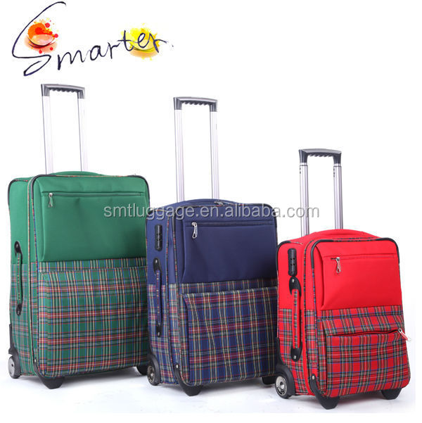 Nylon Fabric Wheeled Luggage Suitcase for Traveling/school/business