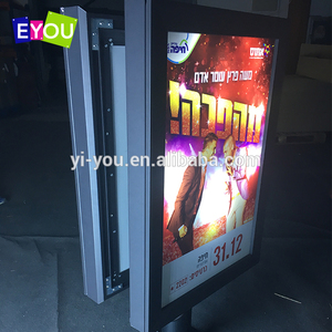 China supplier double side pole light box provide 2 side advertising