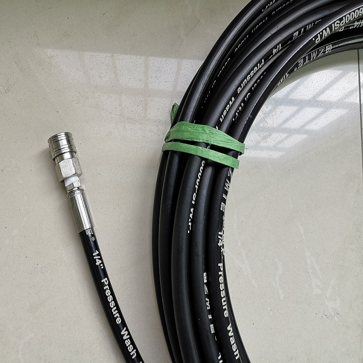 "High Quality 5000 PSI 3/8"" 50 feet/100 feet high pressure washer hose with fittings"