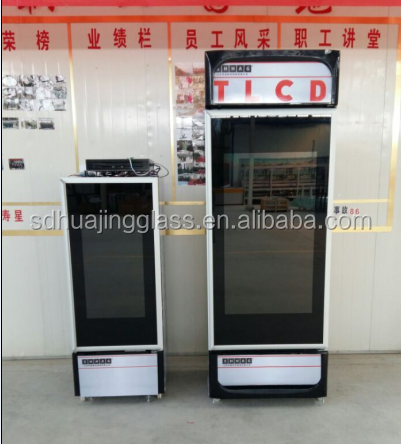 High Quality Transparent LCD Glass Door with Touch Screen
