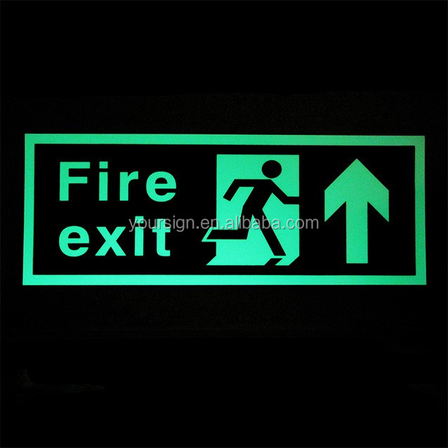 Glow in the Dark Exit & Fire Signs,Glow in the Dark Exit Signs and Labels