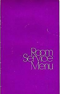 Hyatt Regency Hotel Houston Texas Room Service Menu 1970's