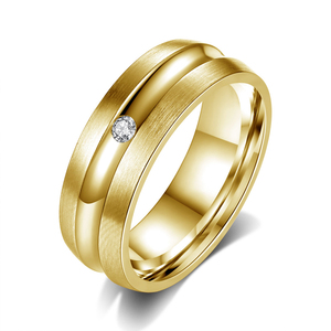 High Quality Gold Plated Titanium Wedding Ring Accessories WhereTo Buy Wedding Rings For Unisex Jewelry Wide Band Ring