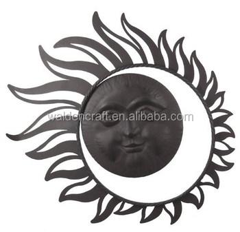 Artisanat En Métal De Jardin En Plein Air Soleil Et Lune Décoration