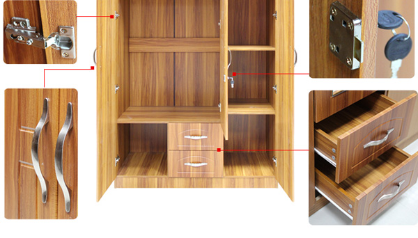 3 doors wardrobe designs bedroom wardrobe designs bedroom for Bedroom wooden wardrobe designs india