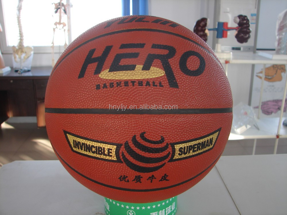 machine and hand made basketballs leather balls