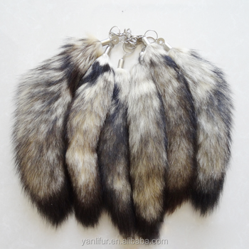Wholesale real fox tail 35-45cm fluffy foxtail animal fur tail for decoration accessories