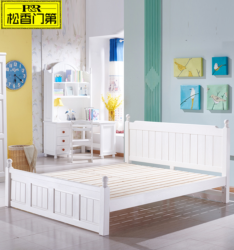 middle east furniture white color wooden bed