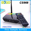Best Pair for TV Set android tv box CS968 rk3188 ARM A9 quad core 1.8GHz Ram 2g Rom 8g FHD Embedded 3D GPU smart Tv Box