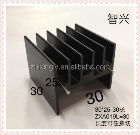 With two pin TO-247 Electronics Aluminum Heatsink 30*25-30 Length/Electronic Aluminum heatsink