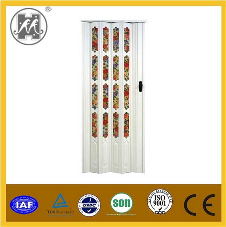 Estilo de vidrio pvc puerta plegable precio ba o pvc puerta plegable para la decoraci n de - Puertas plegables para banos ...