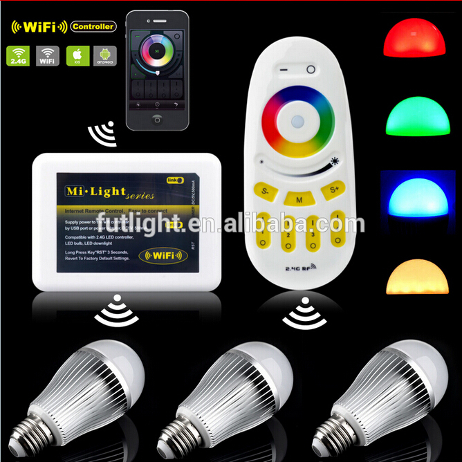 Ac86-265v 2.4ghz 9w Rgb Colour Led Light Bulb B22 E27 & Wifi ...