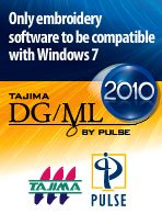 Tajima Dg/ml By Pulse 2010 - Maestro - Buy Embroidery Software Product on  Alibaba com