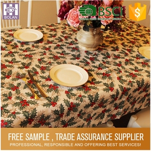 professional design hand block print table cloth pvc transparent