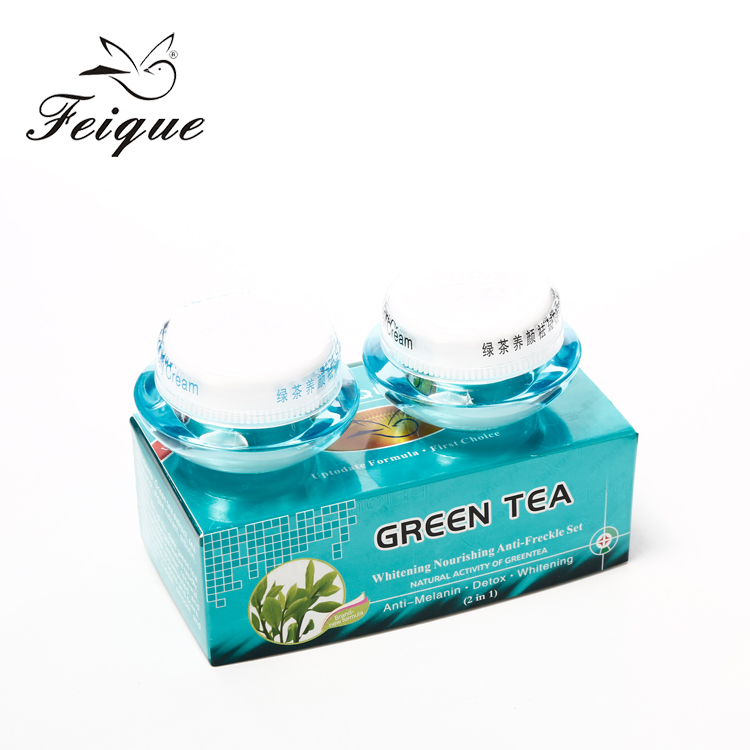 High quality malaysia green tea effective permanent glutathione ideal face whitening skin whitening cream for black women