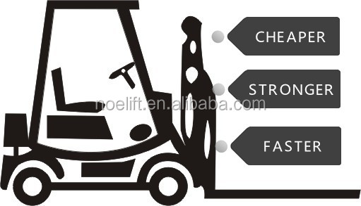 cherry forklift 2tons diesel forklift truck for sale ce approved