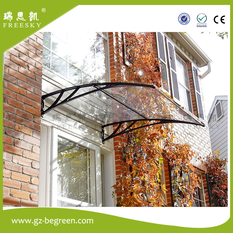 freesky easy assembly sun shade rain protection guangzhou polycarbonate awning