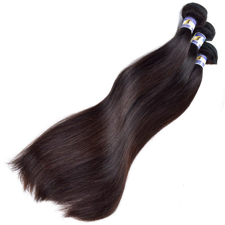 34 inch Straight Hair Weave,Natural Wave Natural Color Dyeable Unprocessed Hair