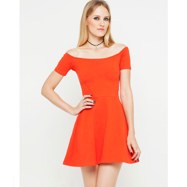 Off the Shoulder Casual Dress