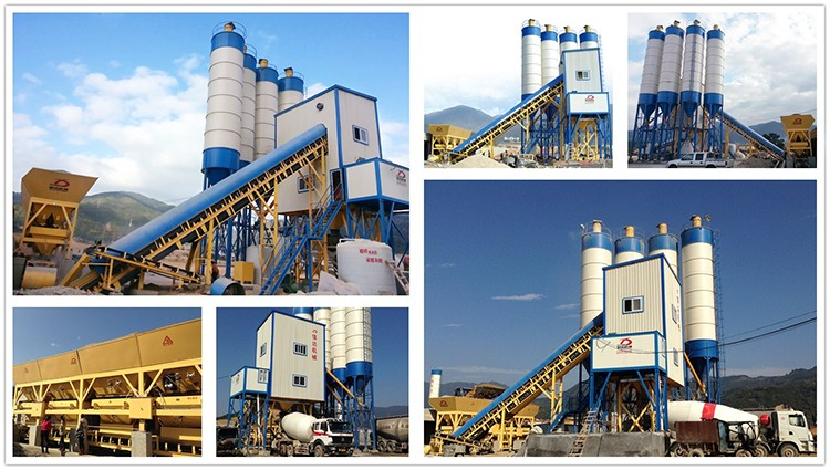120m3/h ready mix concrete mixing plant price with sicoma