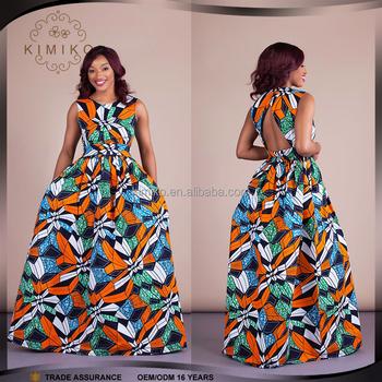 9086a58e2b4 Wholesale Custom African Style Fashion Ankara Wax Print Fabric Maxi Dress
