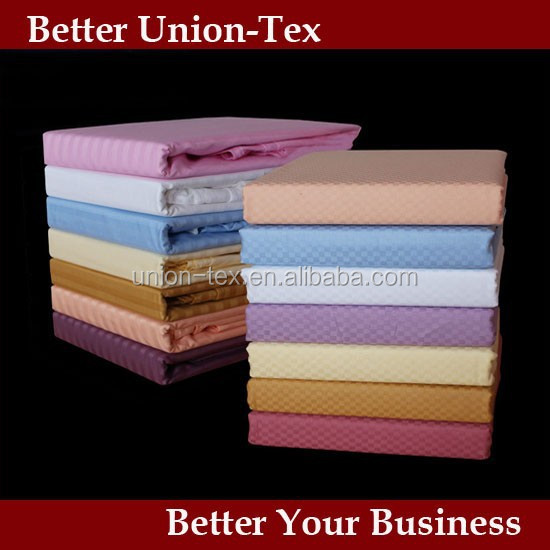 Colorful High quality 250T cotton queen size small checks pattern wholesale bed sheets