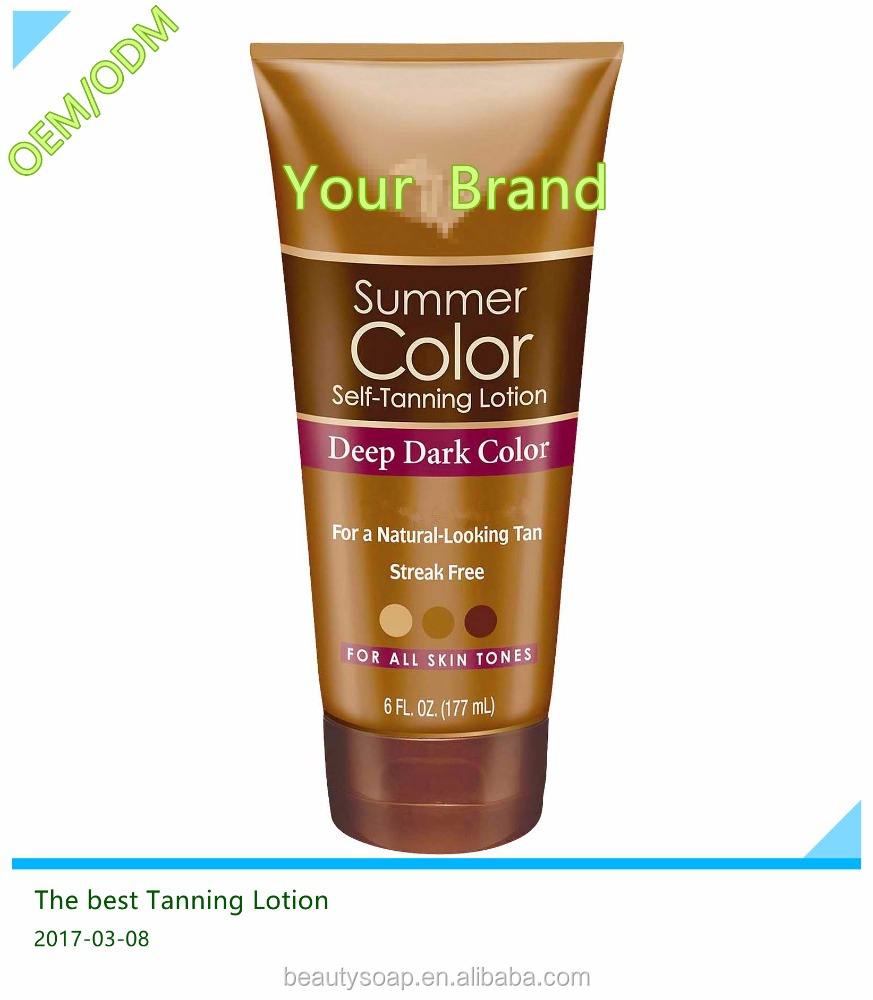 2017 Hot Sell! Amazon OEM Factory Manufacture high quality & Competitive price tanning lotion/self tanning lotion
