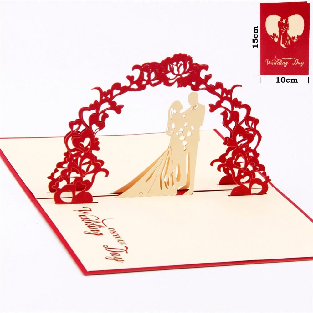 English Wedding 3d Invitation Card Laser Cut Wedding Invitations ...