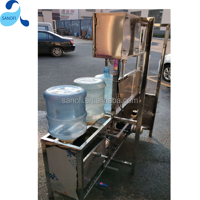 semi-automatic 5 gallon bottle washing, filling and capping machine