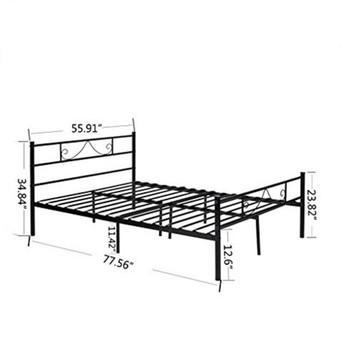 sale retailer 9f9e4 d9b4f Kingpex Metal Platform Bed Frame Twin Size Steel Mattress Foundation Kids  Teen Bedroom Home Furniture White - Buy King Size Bed Design,Bed With  Single ...