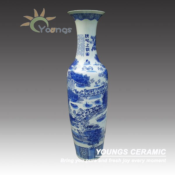 Jingdezhen Big Blue And White Ceramic Vase Buy Big Vaseantique